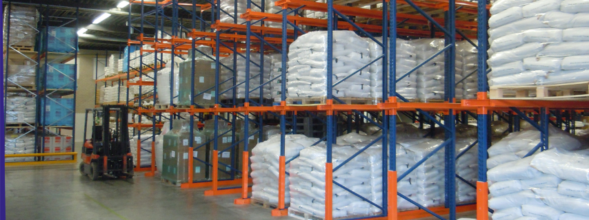 Close up of Food Graded Warehouse one of the Food Processing Services provided by Caldic